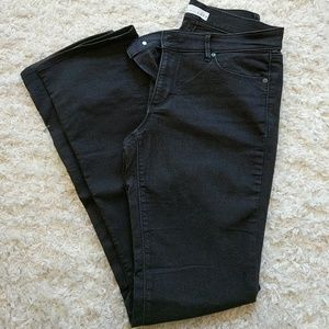Great condition LOFT black modern boot jeans